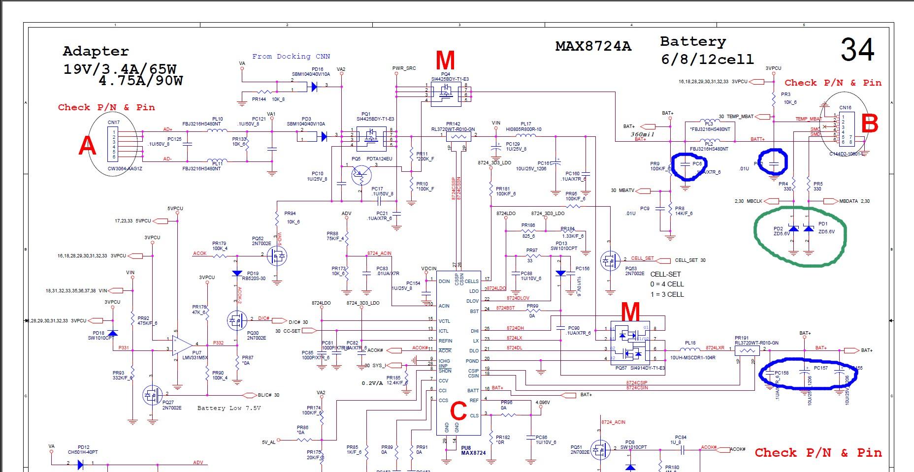 Schema Elettrico Batteria Notebook : Riparare la motherboard di un portatile il notebook